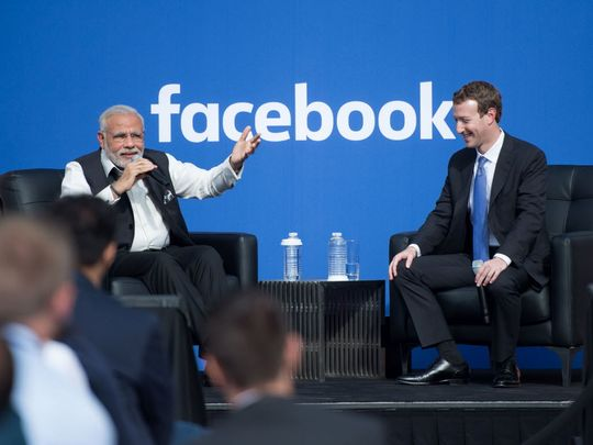 Pm Modi and mark zuckerberg digital india