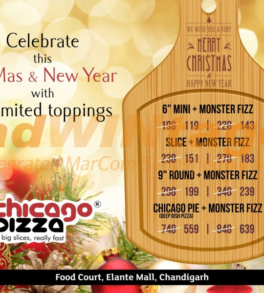 Chicago Pizza Chandigarh – Christmas & New Year Celebration