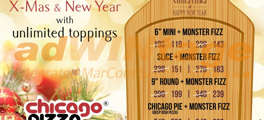 Chicago Pizza Chandigarh – Christmas & New Year Celebration