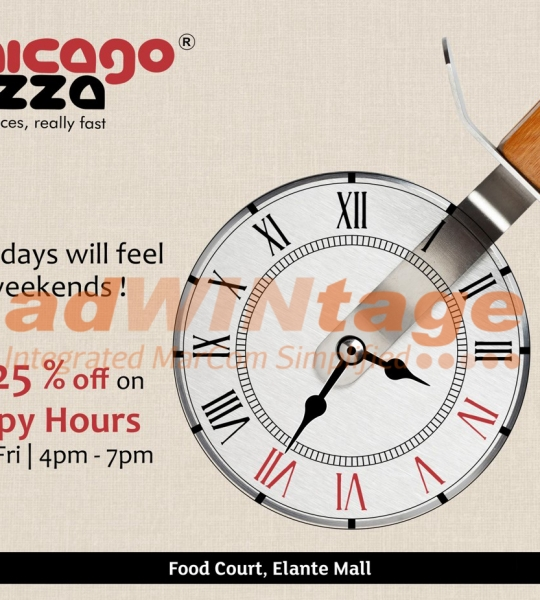 Chicago Pizza Chandigarh – Happy Hours Promotion