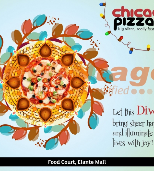 Chicago Pizza,Chandigarh – Diwali greetings