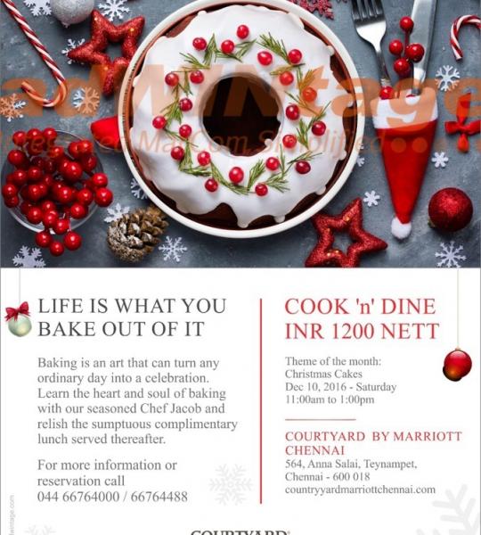 Courtyard Marriott, Chennai – Christmas Cook & Dine