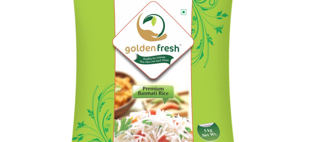 Golden Fresh-Basmati Rice Packaging