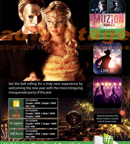Holiday Inn Chandigarh – New Year Creatives