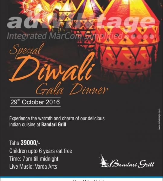 New Africa Hotel, Tanzania – Diwali Dinner