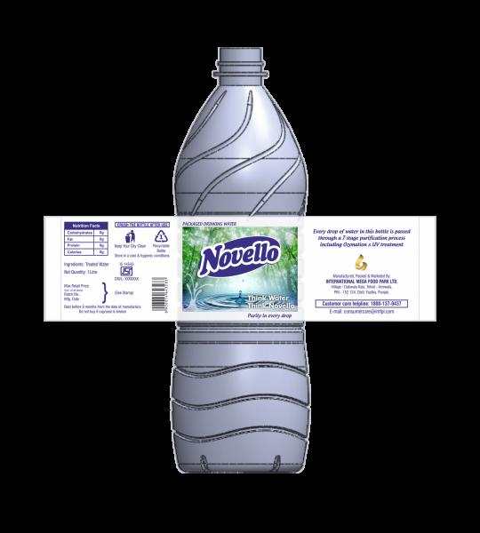 Novello-Water Bottle Label