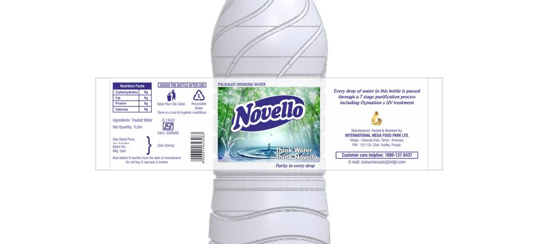 Novello-Water Bottle Label