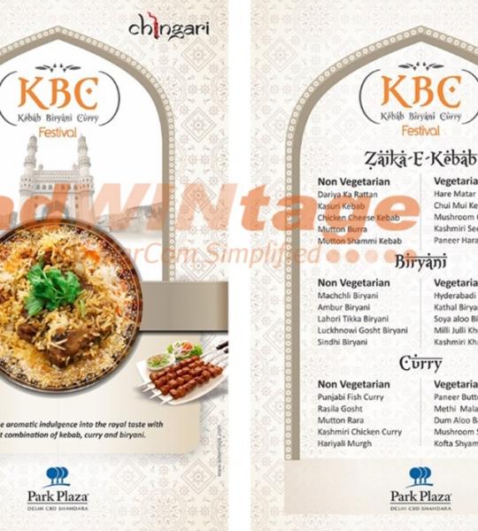 Park Plaza Shahdara – Kebab & Biryani Menu
