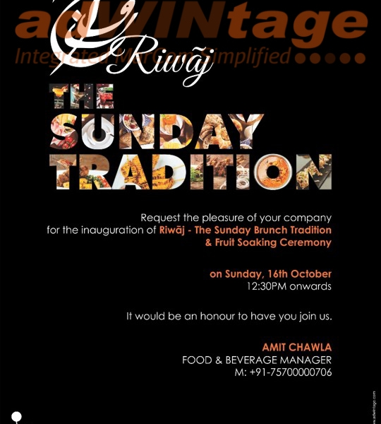 Renaissance Marriott, Lucknow – Riwaaz- Sunday Brunch